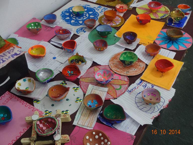 Diya Decoration | MES HOCL School