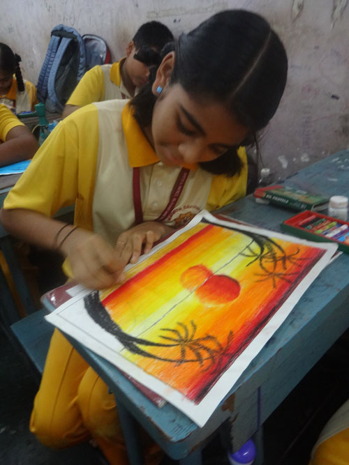 Drawing and Colouring Compeion | MES HOCL School on